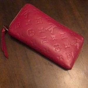 Louis Vuitton monogram empreinte wallet